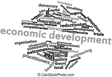 Word cloud for Economic development - Abstract word cloud...