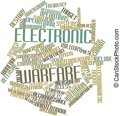 Word cloud for Electronic warfare - Abstract word cloud for...