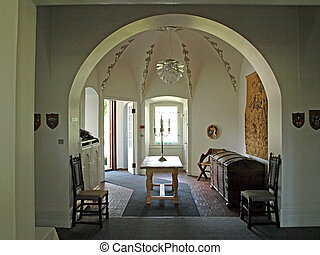 Elegant old entryway - Elegant classical old fashioned...