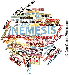 Nemesis - Abstract word cloud for Nemesis with related tags...