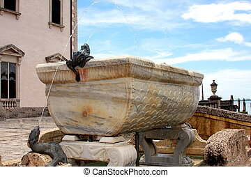 Fountain in Vizcaya - Fountain on the South Terrace of...