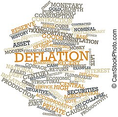 Deflation - Abstract word cloud for Deflation with related...
