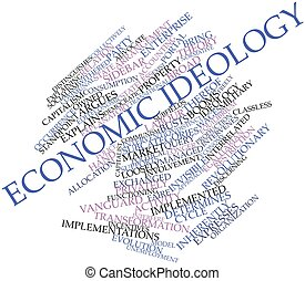Word cloud for Economic ideology - Abstract word cloud for...