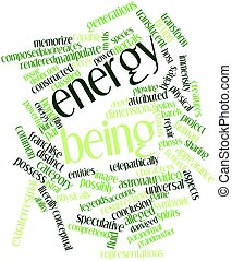 Energy being - Abstract word cloud for Energy being with...