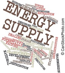 Energy supply - Abstract word cloud for Energy supply with...