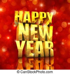 szczęśliwy, nowy, rok, najlepszy, życzenia