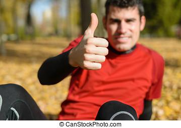 Positive sportsman