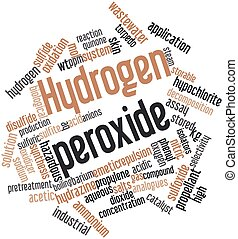 Hydrogen peroxide - Abstract word cloud for Hydrogen...