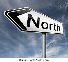 nort arrow - north geographical compass direction north icon...
