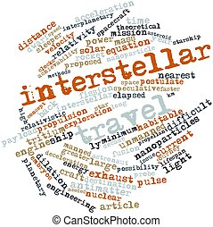 Word cloud for Interstellar travel - Abstract word cloud for...