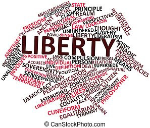 Word cloud for Liberty - Abstract word cloud for Liberty...