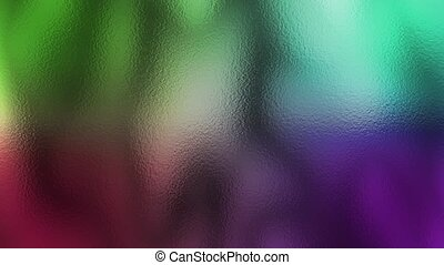 Colorful Blurs - Colorful blurs slowly moving behind frosted...