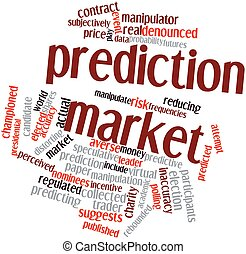 Prediction market - Abstract word cloud for Prediction...