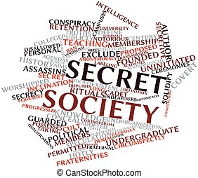 Secret society - Abstract word cloud for Secret society with...