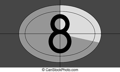 Countdown - Animated countdown sequence 9 to 0