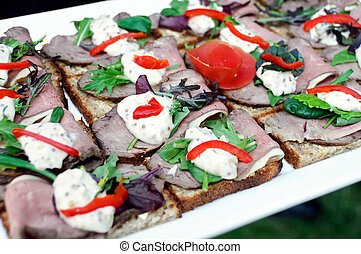 Beef appetizers