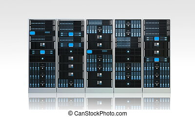 Computer Server Cabinet - 3d rendered image of Computer...