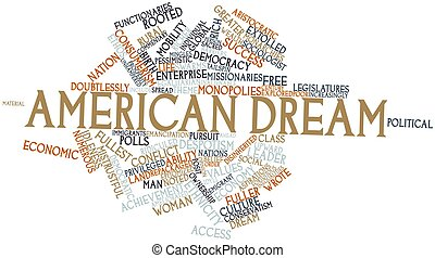 American Dream - Abstract word cloud for American Dream with...