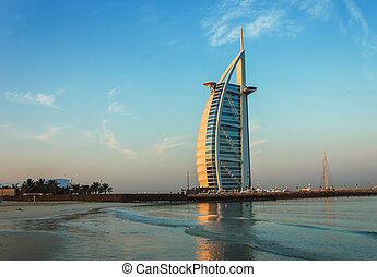 Burj Al Arab hotel on Nov 15, 2012 in Dubai - DUBAI, UAE -...