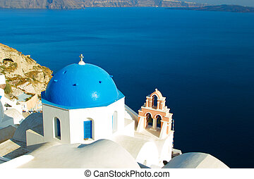 Church in Oia Santorini