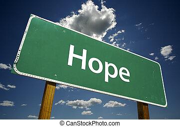 esperança, estrada, sinal