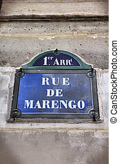 Paris street - Paris, France - Rue de Marengo old street...