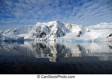 reflection of antarctica in the sea - ocean reflection of...
