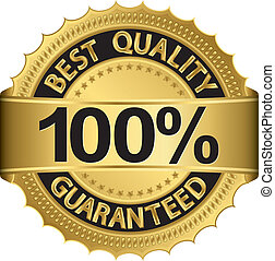 Best quality 100 percent guaranteed golden label, vector...
