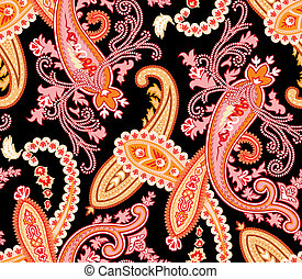 Seamless paisley pattern - Vector. Seamless paisley...