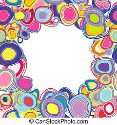 Frame with colored circles