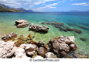 Croatia - beautiful Mediterranean coast landscape in...