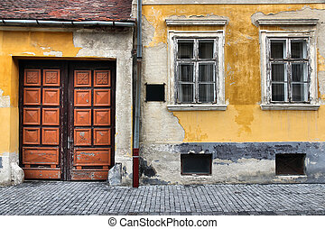 Koszeg, Hungary - town in Vas county. Old gate and windows.
