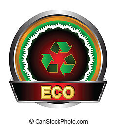 Eco logo in unique style on a white background
