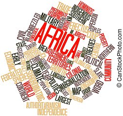 Word cloud for Africa - Abstract word cloud for Africa with...