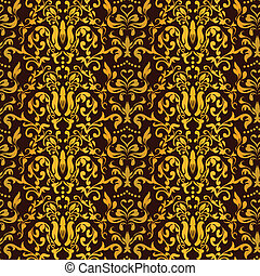 Barocco Seamless Pattern Vector - Barocco Floral Seamless...