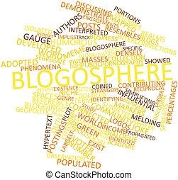 mot, nuage, Blogosphere