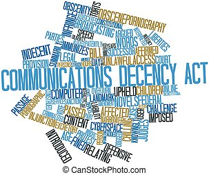 Word cloud for Communications Decency Act - Abstract word...