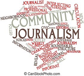 Community journalism - Abstract word cloud for Community...