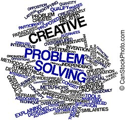 Word cloud for Creative problem solving - Abstract word...