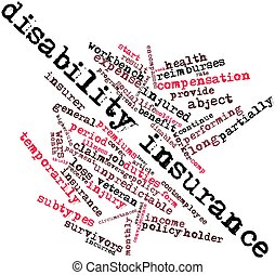 Word cloud for Disability insurance - Abstract word cloud...