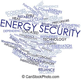 Energy security - Abstract word cloud for Energy security...