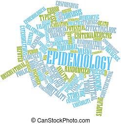 palabra, nube, epidemiología