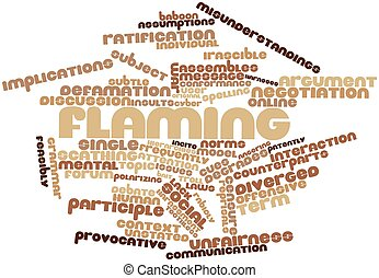 Word cloud for Flaming - Abstract word cloud for Flaming...