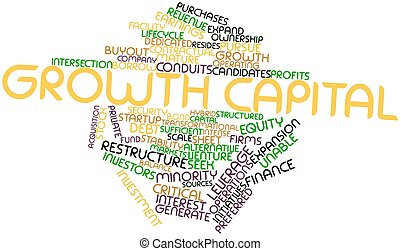 Growth capital - Abstract word cloud for Growth capital with...