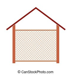wooden house for the well vector illustration