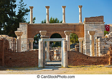Ruins of st Johns Basilica at Selcuk Ephesus Turkey - Ruins...