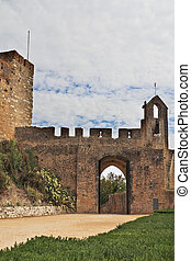 The entrance to the fortress of the Knights Templar....