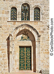Entrance to the Coptic Church of the Holy Sepulchre in...