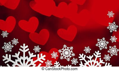 Love Christmas. Christmas snowflakes background
