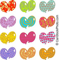 patterned balloons - artistic abstract patterned ballooon...